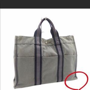 Authentic Hermes Fourre Gray Tout MM bag